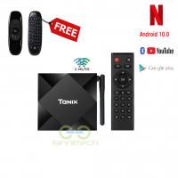 Android 10 4GB RAM 32GB STORAGE TANIX TX6S WIFI 4K  BLUETOOTH TV BOX + Free Wireless Air Mouse