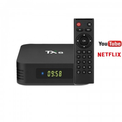 Tanix TX8 RK3318 2.4G 5G Smart TV Box HD 4GB RAM 32GB ROM WIFI bluetooth 4.0 Android 9.0 4K Set Top Box Digital display